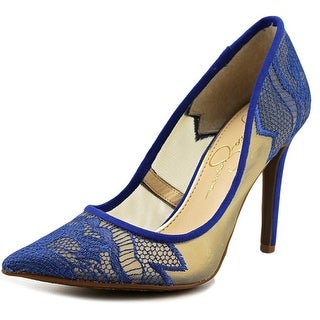 Jessica Simpson Camba Women Pointed Toe Synthetic Blue Heels