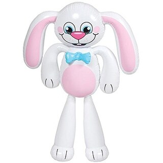 "Rhode Island Novelty 61 x 57"" Jumbo Bunny Inflate Pretend Play Toy Products"