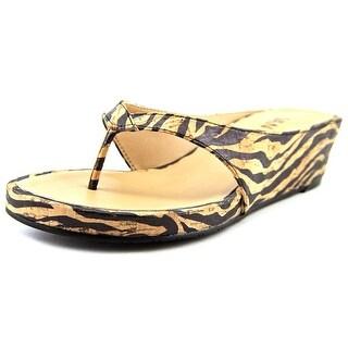 Vaneli Klemens Open Toe Synthetic Wedge Sandal