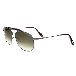 Tom Ford FT0339/S 09F Marlon Pewter/Red Square Sunglasses - 57-16-140