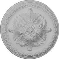 Ekena Millwork CM11AC 11.38 x 2 in. Acanthus Ceiling Medallion