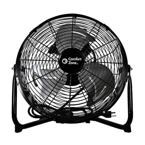 12-inch High-Velocity 3-Speed Floor Fan with 180-Degree Tilt