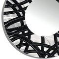 Statements2000 Black / Silver Metal Decorative Wall-Mounted Mirror by Jon Allen - Mirror 108 - Thumbnail 3