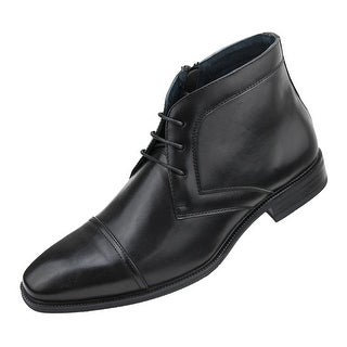 Amali Men's Smooth Cap Toe Oxford Ankle Boots