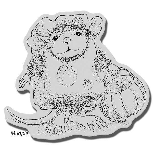 "Stampendous House Mouse Cling Stamp 3.5""X4"" -Trick Or Cheese"