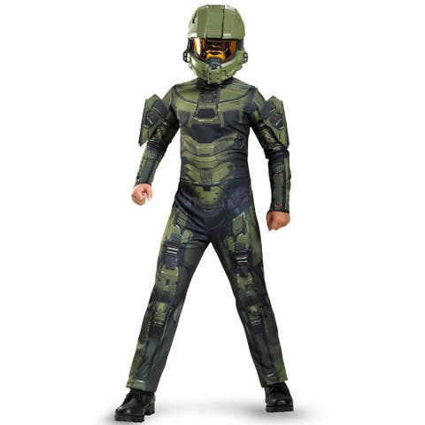 Disguise Master Chief Classic Child Costume - Green