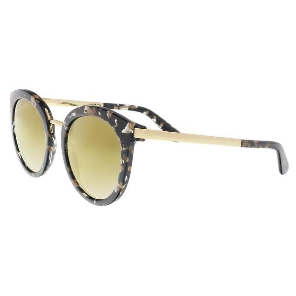 fa26a4d3e9 Dolce  amp  Gabbana DG4268 911 6E Cube Black  Gold Cat Eye Sunglasses -