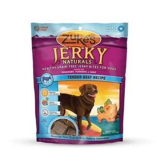 Jerky Naturals Healthy Grain Free Treats for Dogs Tender Beef 6 oz.