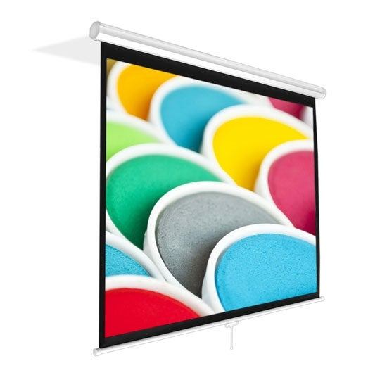 Universal 100-Inch Roll-Down Pull-Down Manual Projection Screen (59.8'' x 79.9'') Matte White