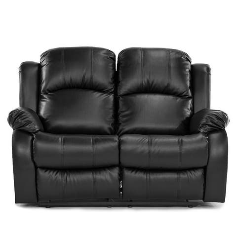 Oversize and Overstuffed Recliner Sofa PU Leather Double Reclining