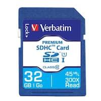 Verbatim 96871 Premium SDHC Memory Card, UHS-I Class 10, 32 GB