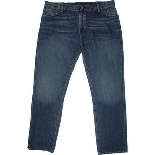 Polo Ralph Lauren Mens Big & Tall The Hampton Straight Straight Leg Jeans - 44b/34