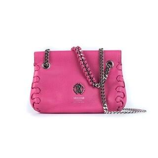 Roberto Cavalli Women's Orchid Pink Leather Mini Crossbody Bag - S