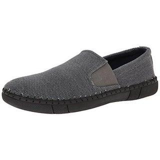 Robert Wayne Mens Road Woven Slip On Loafers