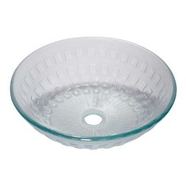 Tempered Glass Bathroom Vessel Frosted Diamond Glass Pop-upIn