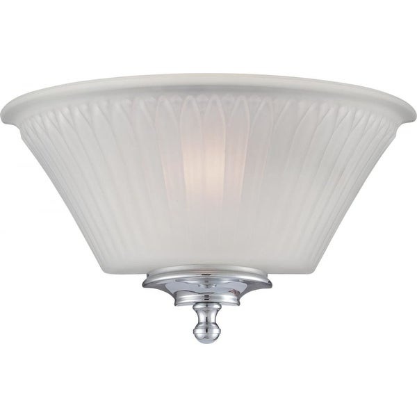 """Nuvo Lighting 60/5372 Teller 1-Light 6-13/16"""" Tall Wall Sconce with Patterned Glass Shade - Polished chrome"""