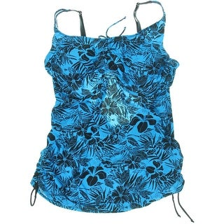 Gabrielle-Aug Womens Plus Floral Print Underwire Tankini Swimsuit - 60