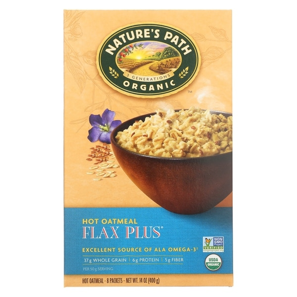 Nature's Path Hot Oatmeal - Flax Plus - Case of 6 - 14 oz.