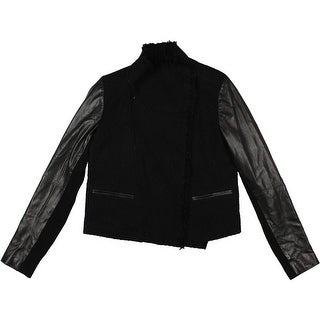Vince Womens Jacket Wool Leather