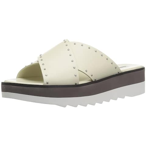 Charles David Womens Buxom Leather Open Toe Casual Slide Sandals