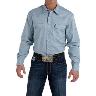 Cinch Western Shirt Mens Long Sleeve Modern Fit Light Blue - LIGHT BLUE
