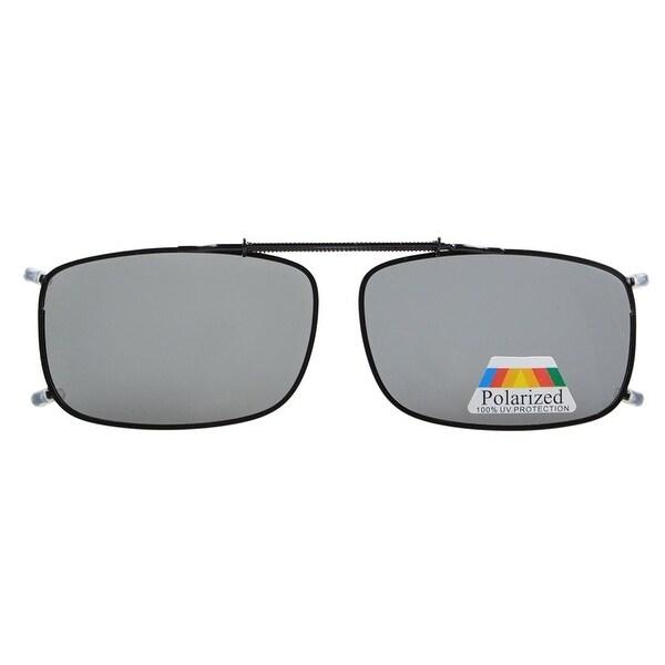 71e6b3cd5b Eyekepper Metal Frame Rim Polarized Lens Clip On Sunglasses Grey Lens -  lens width 52mm