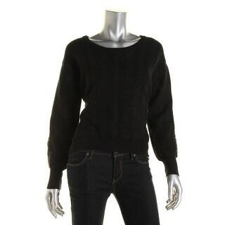 Sam Edelman Womens Textured Hi-Low Sweatshirt