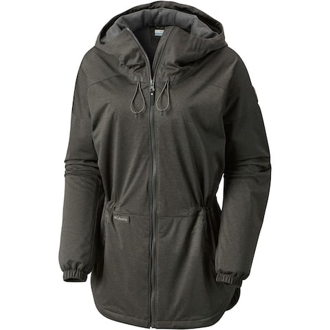 Columbia Womens Jacket Heather Gray Size Small S Full Zip Hooded
