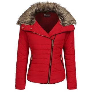 NE PEOPLE Womens Quilted Light Weight Fur Jacket Coat [NEWJ1983]