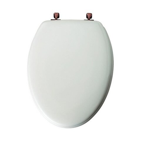 Mayfair 144OR-000 Sculpted Elongated Toilet Seat in White