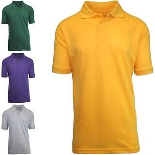 Men's 3 Button Short Sleeve Polo