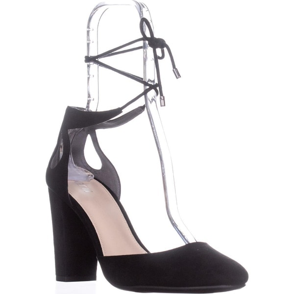 B35 Sabrina Ankle Strap Pumps, Black