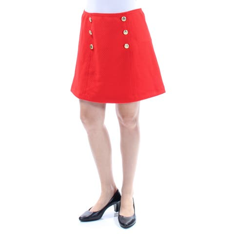 KENSIE Womens Orange Beaded Above The Knee A-Line Skirt Size: M