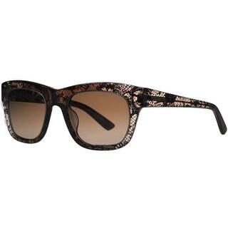Valentino V 611/S 210 Brown Wayfarer Sunglasses