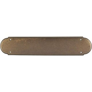 Top Knobs M904 Appliance Collection 15 Inch German Bronze Plain Push Plate