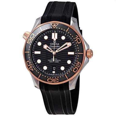 Omega Men's 210.22.42.20.01.002 'Seamaster' Black Rubber Watch