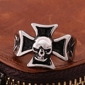 Vienna Jewelry Skull Cross Stainless Steel Ring - Thumbnail 1