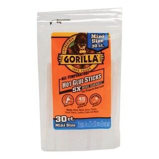 """Gorilla 3023003 Mini Hot Glue Sticks, Clear, 4"""""""