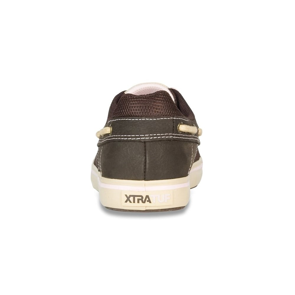 Chocolate /& Tan XTRATUF Finatic II Women/'s Leather Deck Shoes 22308