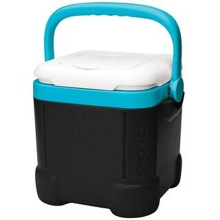 Igloo 32289 Beverage Ice Cube Cooler, 12 Quart, Black/White/Turquoise