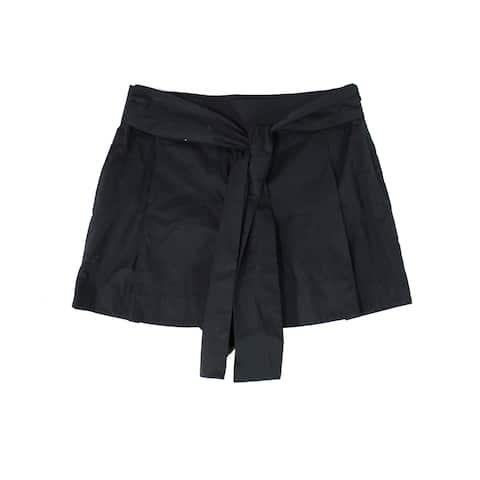 J. Crew Women's Shorts Midnight Blue Size 16 Casual Poplin Tie Waist