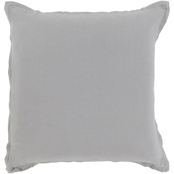 "22"" Gray Woven Decorative Indoor Square Throw Pillow with Knife Edge"