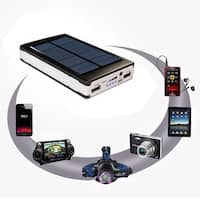 Dual USB Portable Solar Battery Charger Power Bank For Cell Phone