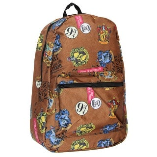 Harry Potter Hogwarts Patch Allover Print Backpack