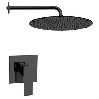 Nameeks SS1139 Remer 2.5 GPM Single Function Rain Shower Head with Valve Trim Rough In Included (Option: Brass Finish)