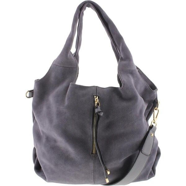 Moda Luxe Womens Sabrina Hobo Handbag Suede Leather Trim Large