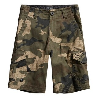 Fox 2016 Boy's Slambozo Cargo Short - 13572 - Green Camo