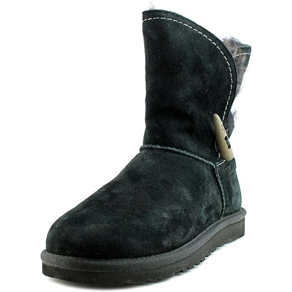 UGG Collection w meadow Women  Round Toe Suede Black Winter Boot