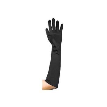 Black Flapper Costume Gloves