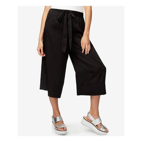 RACHEL ROY Womens Black Capri Wide Leg Pants Size S
